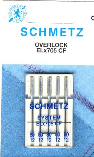 Agujas para Máquinas de Coser Schmetz para overlock máquinas ELx705 CF 5 x grosor 80