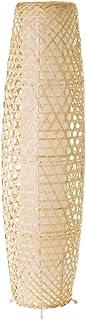 Lámpara de pie rústica de bambú beige de 88x23x23 cm - LOLAhome