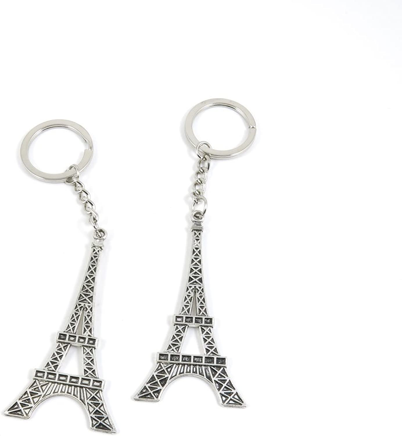 100 Pieces Keychain Keyring Door Car Key Chain Ring Tag Charms Bulk Supply Jewelry Making Clasp Findings T0YV1U Paris Eiffel Tower