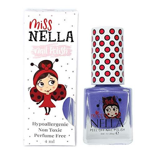 Miss Nella SWEET LAVENDER- Spezieller Lila Nagellack mit Glitzer für Kinder, Peel-Off-Formel, wasserbasiert und geruchsneutral