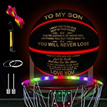 Kenon Engraved Light Up Led Basketball - Glow in The Dark Basketbal - You Will Never Lose Encouragement Gift for Graduation Birthday Christmas (for Son from Dad)