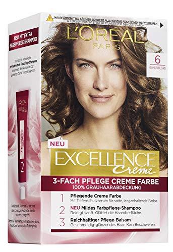 L'Oréal Paris Excellence Crème 6 Dunkelblond 3er Pack(3 x 268 g)