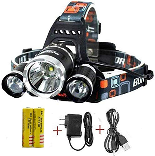 Headlamp, 20000 High Lumens Brightest Head Lamp,18650 USB Rechargeable Li-ion Batteries,Waterproof Head Lights for Camping Running Hiking Fishing(Included Charging equipment and Battery)
