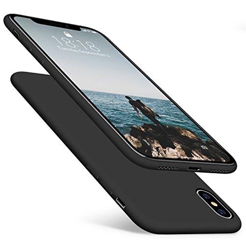 Kit Capa Capinha Tpu Ultra Fina Fosca Iphone X 5.8 + Película Vidro - Preta