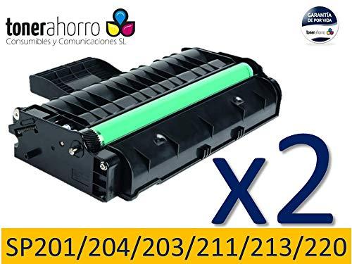 TonerAhorro ® PACK 2 UD SP201N / SP204SN / SP203S / SP211 / SP213 NEGRO CARTUCHO DE TONER GENERICO 407999 / 407254 PARA RICOH 2600 COPIAS 24 MESES DE GARANTIA