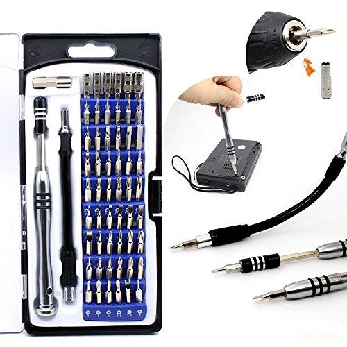 MASUNN 58 En 1 Destornillador De Precisión Conjunto Universal Desmontar Reparación Herramienta Kit 54Pcs bit Driver para Teléfono Móvil iPhone Ordenador Electrónico