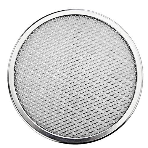 Rundes Gitter-Pizza-Sieb aus Aluminium, nahtlos, für Pfannkuchen, Pizza-Backblech, Küchen-Backwerkzeuge (17,8 cm)