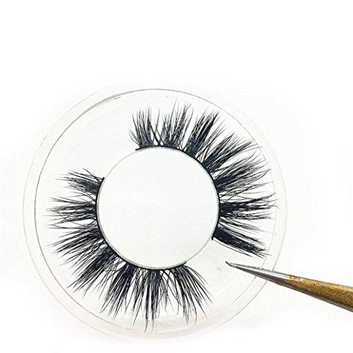 Eyelashes, False eyelashes, Yezijin 1Pair Luxury 3D False Lashes Fluffy Strip Eyelashes Long Natural Party