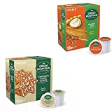 Green Mountain Cinnamon Sugar Cookie & Pumpkin Spice Coffee K Cups - 2 Boxes of 18 Count - Christmas Holiday Seasonal Coffee Bundle