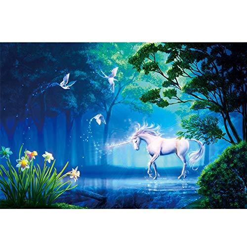 1000 stukjes houten puzzel Fantasy Landschap Landschap Brain Iq Ontwikkelen Game Toys Puzzel cadeaus 70 * 50CM (Colour Name : Fantasy unicorn)