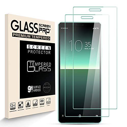 HJX Panzerglas Schutzfolie für Sony Xperia 10 II, 9H-Härte Tempered Glass, Anti-Kratzer, Einfache Installation, Anti-Fingerabdruck Displayschutzfolie für Sony Xperia 10 II [2 Stück]