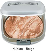 Ageless Derma Mineral Baked Foundation- A Vegan and Gluten Free Makeup Foundation (Nubian Beige)