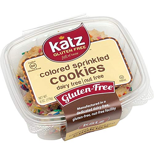 Katz Gluten Free Colored Sprinkle Cookies | Dairy, Nut and Gluten Free | Kosher (1 Pack, 6 Ounce)