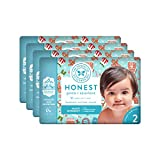 The Honest Company Baby Diapers with True Absorb Technology, Gingerbread Time, Size 2, 128 Count