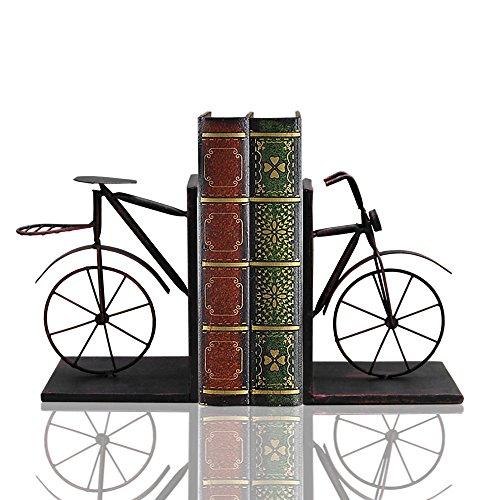 Fahrrad Buchstütze Paar, Vorder- und Rückseite, Eisen 20,3cm hoch, mit schwerem Boden Skid Free. By Mega Stationers