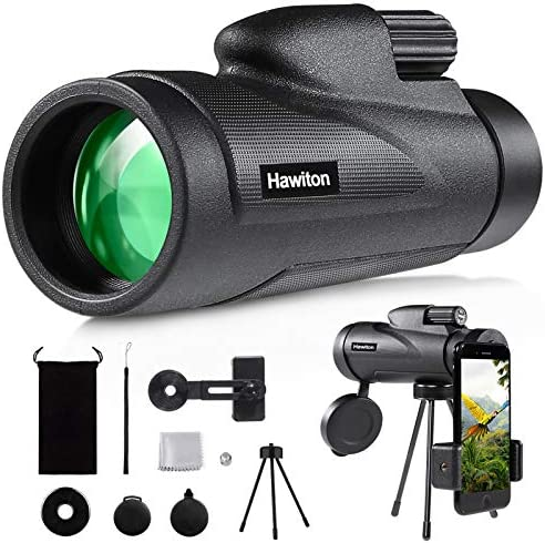 Hawiton Monocular Telescope High Power with Smartphone Holder Tripod 12X50 HD FMC Lens BAK4 product image