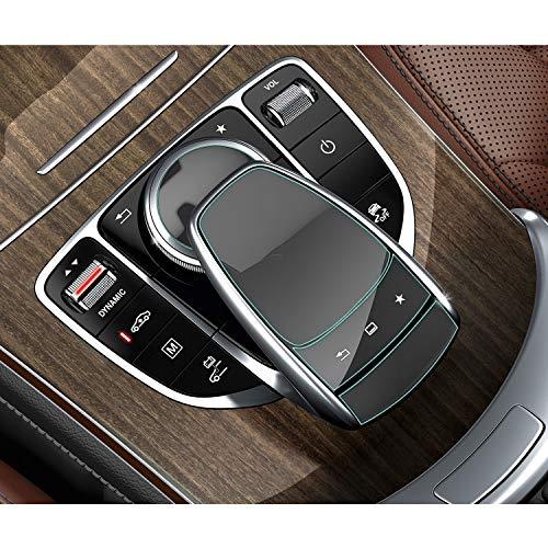 SHAOHAO Protector de pantalla transparente para consola central y ratón, para Mercedes Benz Clase C V GLC Clase S Clase GLE GLS CLA (2 unidades)