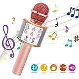 Bearbro Micrófono Inalámbrico Bluetooth,Micrófono Karaoke Bluetooth Portátil con Función Selfie para Niños Canta Partido Musica, Compatible...