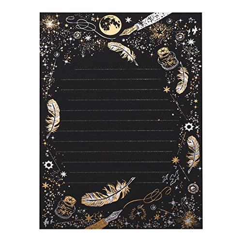 レターセット 24枚 お礼状 便箋 羽 星空柄 アンティーク レターセット おしゃれ かわいい 結婚 メッセージカード 手紙 シンプル レトロ 美しい