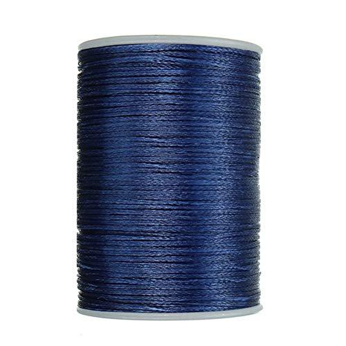 PENGHU LGDA Cuero Hilo Encerado 0.8mm 78M del Hilo de Coser de Puntada del cordón Pulsera sólida Fuerte de Microfibra de poliéster Arte de DIY (Color : Blue)