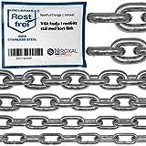 200-cm = 2-metri 3-mm di spessore catena in acciaio inossidabile inox V4A a maglia corta da NietFullThings in un unico pezzo catena di ancoraggio DIN 5685 DIN 766 2-m