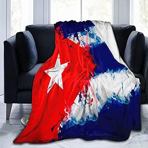 HLSCYZ Coperta Flannel in Pile,Bandiera Cubana da Sola Morbido Accogliente per Bambini Ragazzi Adulti Coperta per Letto e Divano 150x125cm