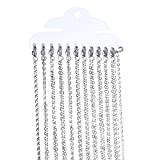 12Pcs/Set 30 Inch Stainless Steel Link Cable Chain Necklaces for Jewelry Making by Romance Jewelry