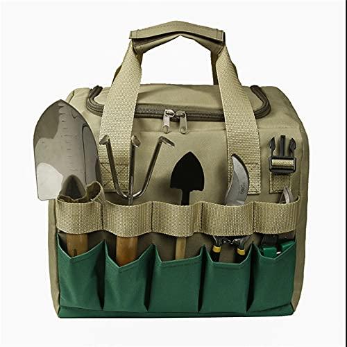 ZSDFW Asiento de herramientas de jardín con bolsa de almacenamiento, multifuncional, desmontable, plegable, gran capacidad, taburete plegable de jardín, taburete de pesca