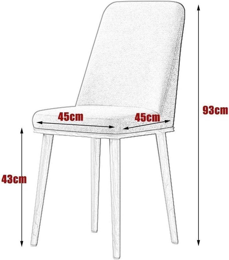 Ping Bu Qing Yun Chaise, Chaise de Salle Simple et Moderne Chaise Informatique Nordique Dossier Loisirs Maison Chaise 10 Couleurs en Option @ (Color : H) J