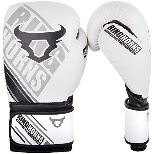 Ringhorns Nitro Boxhandschuhe Muay Thai, Kickboxing, Weiß