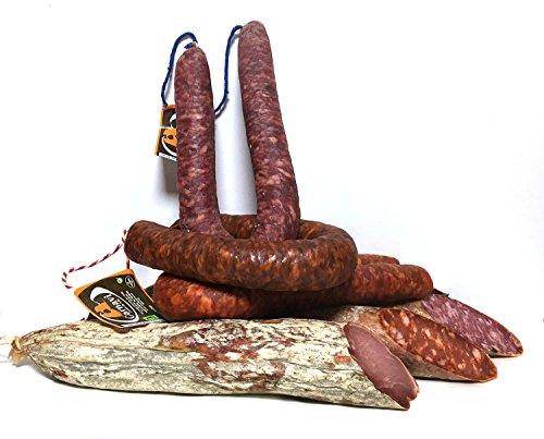 Lote de Embutido: Chorizo en Sarta Rojo 450 gr, Chorizo en Sarta Blanco 450 gr, Chorizo Sarta Picante 450 gr, Lomo Embuchado 1 Kg, Chorizo Ibérico 1 Kg, Salchichón Ibérico 1 Kg,