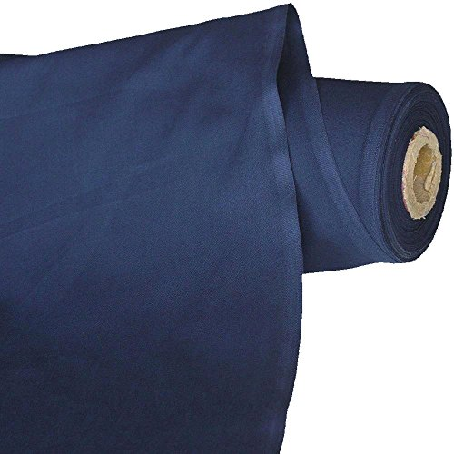 TOLKO Baumwollstoff | 42 kräftige ÖkoTex Farben Baumwoll-Nesselstoff uni Kleiderstoff Dekostoff | Baumwolle Meterware 150cm breit | Vorhang-Stoff Bezugsstoff Webstoff 50cm (Marine-Blau)