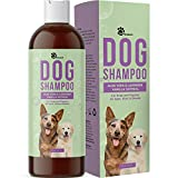 Vanilla and Colloidal Oatmeal Dog Shampoo - Pet Shampoo for Dogs and Cleansing Dog Bath with Relaxing Lavender and Aloe Vera - Dog Wash Puppy Shampoo and Moisturizing Dog Shampoo for Smelly Dogs