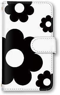 seventwo Galaxy A21 SC-42A スマホケース 手帳型 携帯ケース カードホルダー ギャラクシー エートゥエンティーワン 【J.ホワイト】 花柄 フラワー 北欧風 flower_004