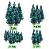 DECARETA 35 Stück Künstlicher Weihnachtsbaum, Mini Grün Tannenbaum, 4.5/6.5/8.5/12.5cm Naturgetreuer Christbaum für Tischdeko, DIY, Schaufenster (Grün) - 3