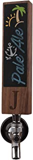 Beer Tap Handle for Kegerator with Monogrammed J, Perfect For Home Bar, Laser Engraved Chalk Tap Handles, Beer Gift for Him, 8 Inch Tall Walnut Wood