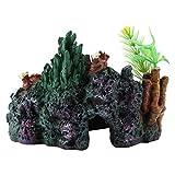Voluxe Resina artificial de coral, resina flexible y realista, decoración de coral, resina artificial, decoración de cuevas de coral para peceras al aire libre y acuario