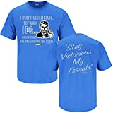 Smack Apparel Detroit Football Fans. Stay Victorious. I Don't Often Hate Blue T-Shirt (2X)