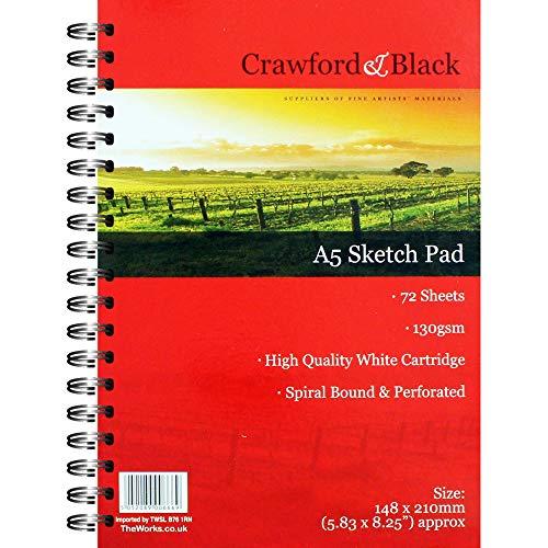 Crawford and Black A5 Sketch Pad