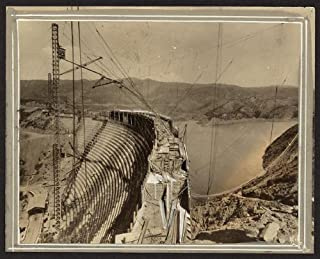 Photo: St Francis dam, construction, Los Angeles, CA, 1924 . Size: 8x10 (approximately)