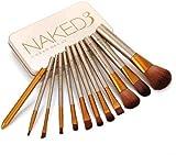 TECHICON Naked3.0 Makeup Brushes Kit with A Metallic Storage Box - Set of