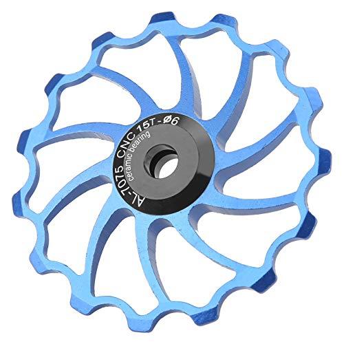 Polea del desviador trasero de la bici, aleación de aluminio de la polea del desviador trasero para las bicicletas(blue)