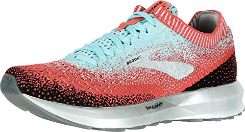 Brooks Womens Levitate 2 Running Shoe - Coral/Blue/Black - B - 7.0