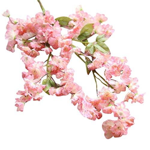 Longra Kunstmatige kersenbloesem, zijdebloem, voor bruiloft, hortensia, huis en tuin, decoratie, kunstbloemen, boeketten, decoratie, voor doe-het-zelver, bruiloft