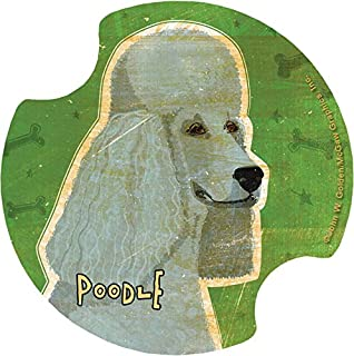 Thirstystone Poodle Car Cup Holder Coaster, 2-Pack