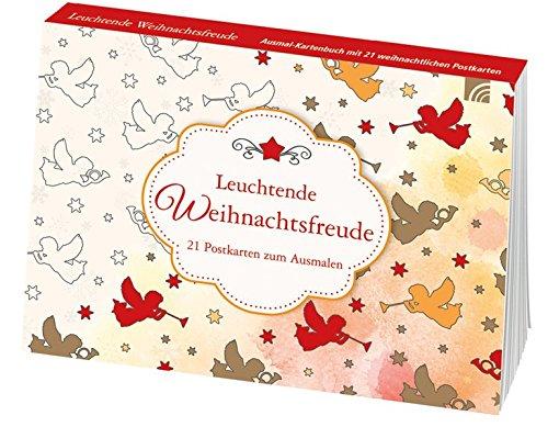 Leuchtende Weihnachtsfreude: Postkarten zum Ausmalen