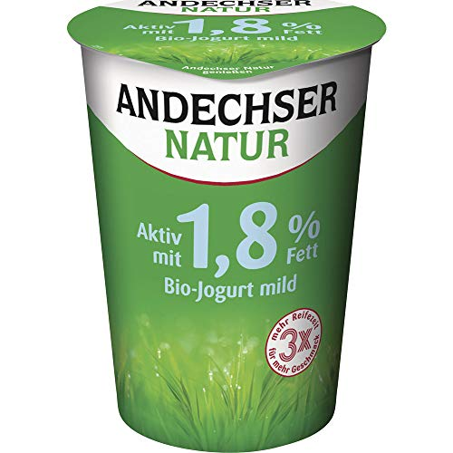 Andechser Natur Bio Bio Jogurt mild 1,8% Becher (6 x 500 gr)