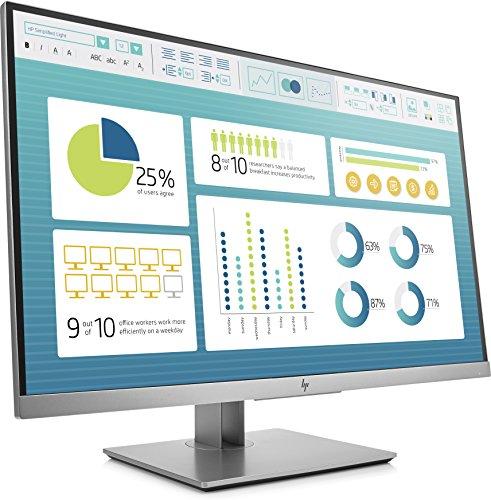 HP EliteDisplay E273 Flachbildschirm, 27 Zoll (68,6cm), Full HD, IPS, Schwarz, Silber, 1.920 x 1.080Pixel, LED, 5 ms, 250 cd/m² - 2