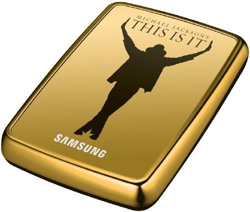 Samsung S2 Portable externe Festplatte 500GB (6,4 cm (2,5 Zoll), USB 2.0) gold (im Michael Jackson Design inkl. Film 'This Is It')