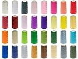 ABC 24 Rollen Qualitäts – Overlockgarn – 3000 Yards - freie Farbwahl aus 32 Farben - Overlock - Garn – reißfest
